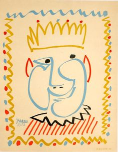 """""""Nice Carnaval""""  Pablo Picasso  Exhibition Poster 1951"""