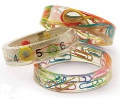 Resin bracelets - oooh, the possibilities!