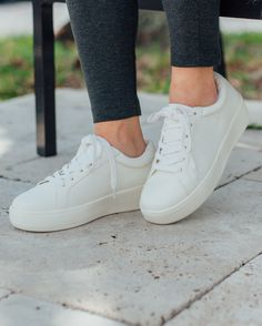 Comfort that lasts all day long, with the perfect amount of height. Where would you wear these platform sneakers from Steve Madden?