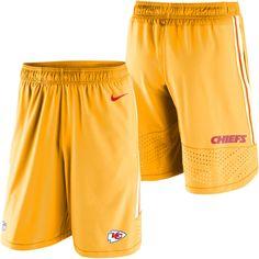 Kansas City Chiefs Nike Speed Vent Performance Shorts - Yellow - $74.99