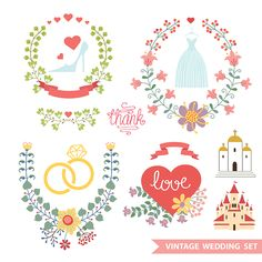 Format : Eps  Size : 0.4 Mb  Author : dryopus   Once you download Cute Floral Wedding Composition...