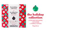 The Holiday Collection - Our Three Limited Edition Holiday Teas, A Perfect Spoon And 10 Filters | DavidsTea. Santa's Secret, Eggnog, & Sleigh Ride (25 g each).
