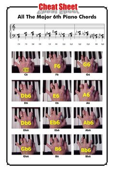 All The Major 6th Piano Chords http://www.playpiano.com/101-tips/8-major-6-chords.htm