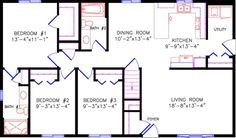 30'wide by 56' deep floor plans - Google Search