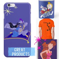 There's a great range of products including spiral and hardcover notebooks, mugs and travel mugs, men's, women's and kid's clothes and phone cases at www.redbubble.com/people/alan2903 Disney