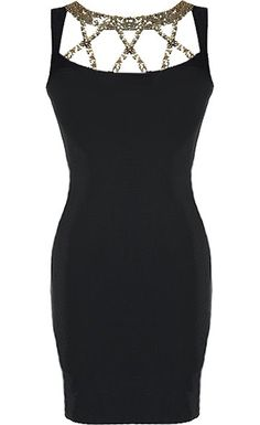 Triple X Dress: Features a glittering gold triple-X decolletage, sleek cutaway arm openings, strappy rear design for a sexy exit, and a hidden side zip closure to finish. Super Cute Dresses, Pretty Dresses, Beautiful Dresses, Bar Outfits, Casual Outfits, Fashion Outfits, Elegant Cocktail Dress, Cocktail Dresses, Elegant Dresses