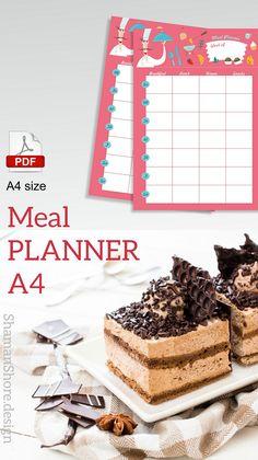 Printable meal planner weekly | Cute printable meal plan template | Printable meal plan calendar | Blank weekly meal planner #ShShPrintables