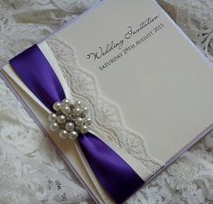 Duo ribbon and lace with pearl cluster