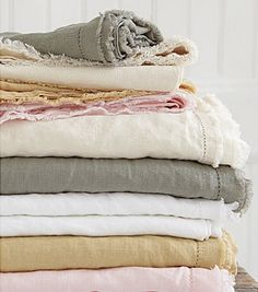 ...Or am I tired because I'm up all night looking at beautiful linen bedding?