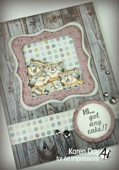 Art Impressions Rubber Stamps: Any Cake Set by Karen Day Copics: E57, E55, E53, E51, E50, W5, W3, W1
