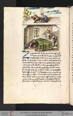Cod. Pal. germ. 84: Antonius von Pforr: Buch der Beispiele ; Passionsgebet (Schwaben , um 1475/1482), Fol 13v