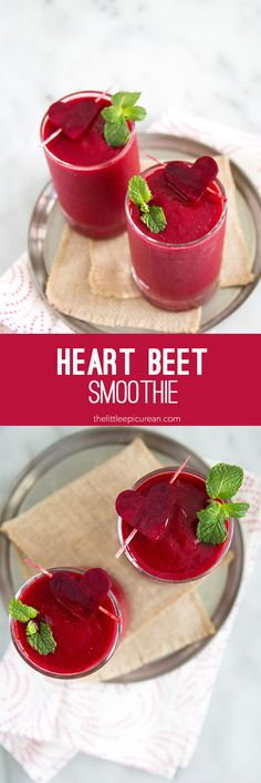 Healthy Smoothies Recipe Heart Beet Smoothie - Start Valentine's Day off right with this healthy heart beet smoothie. Mixed with raspberries, pineapple, and mango, this beet smoothie is sure to satisfy even the pickiest sweet tooth. Beet Smoothie, Good Smoothies, Healthy Breakfast Smoothies, Green Smoothie Recipes, Green Smoothies, Smoothie Mix, Smoothie Cleanse, Smoothie Drinks, Heart Beet