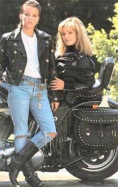 Lisa Marie and Priscilla Presley  1980's