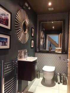 Decor, Framed Bathroom Mirror, Furniture, Grey Bathrooms, Home Decor, Mirror, Bathroom
