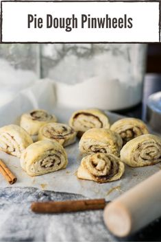 Leftover pie scraps shouldn't go to waste when you can make them into these cinnamon-roll like treats. #dessert #pie Easy No Bake Desserts, Delicious Desserts, Yummy Food, Homemade Desserts, Yummy Recipes, Pinwheel Recipes, Trifle Pudding, Homemade Snickers, Cheesecake Desserts