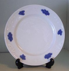 Blå Blom, assiett