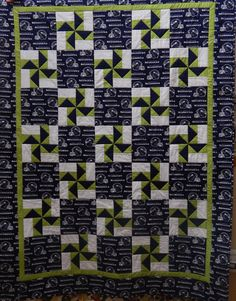 Another Seahawk quilt for another grandson.