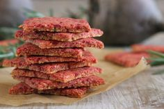 Beet & Rosemary Crackers | Daily Bites   I'm going to try this in the dehydrator!