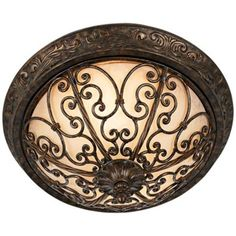 "Iron Gate Collection 16"" Wide Ceiling Light Fixture -"