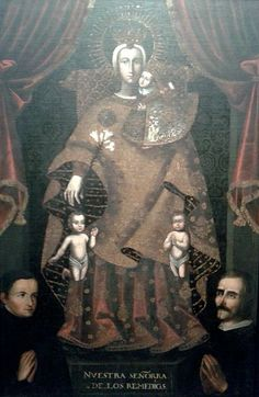 17th cent.Cuzco School. Virgin of Los Remedios.oil on canvas.São Paulo Museum of Art.