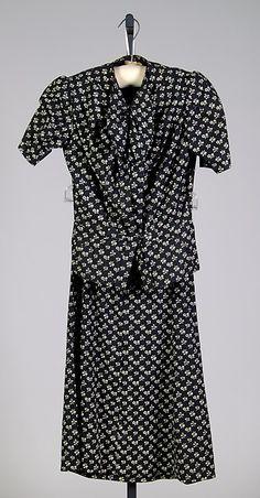 * Dress - Cotton fall 1937  Elsa Schiaparelli