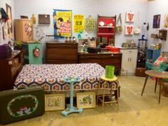 Great 3 piece mid-century bedroom set in our booth at Redbriar Antiques!