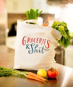 Groceries & Shit Shopping Bag