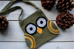 Crochet Pattern Owl Bag with Wings and long by prettycrochetshop, $2.99