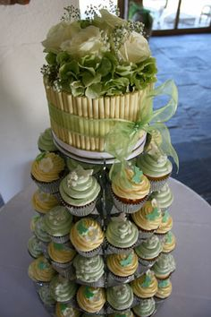Le Papillon Patisserie, display stand by Wedding Acrylics http://www.weddingacrylics.co.uk/round-cupcake-stands/005-7-R-WA.html