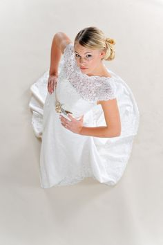 Custom Vintage Lace Wedding Dress Long by PureMagnoliaCouture