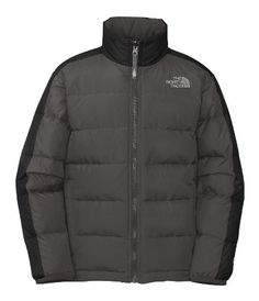 The North Face Boys Aconcagua Down Jacket Graphite Grey Boys XS. 550-fill insulated jacket delivers reliable warmth in cold conditions. Sewn-through construction. Zip-in and snap-in compatible. Zippered handwarmer pockets. Brushed collar lining.