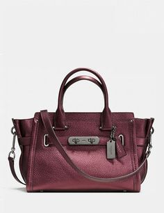 83e151a999 Coach Swagger 27 Pebbled Leather Carryall Satchel. New HandbagsPurses ...