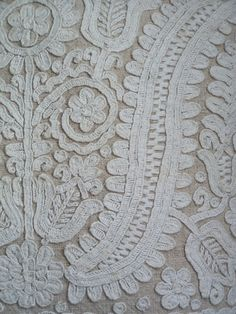 close up of Kalotaszegi embroidered pillow