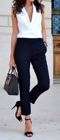 Impressive Black And White Summer Outfit Ideas 2018 60
