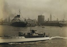 SS Normandie in New York Harbor, 1930c   Flickr - Photo Sharing!