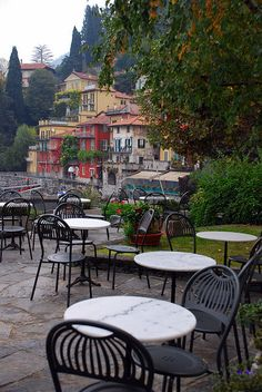 Coffee for two with a view of Varenna, Italy