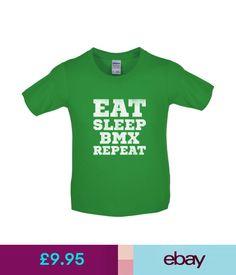Boys' Clothing (2-16 Years) Eat Sleep Bmx Repeat - Kids / Childrens T-Shirt - Bike - Biking - 8 Colours #ebay #Fashion