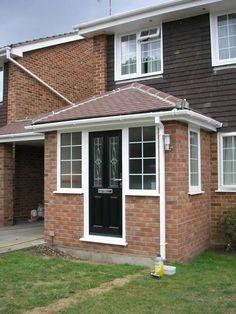 Porch Uk, House Front Porch, Front Porch Design, House Entrance, Porch Designs, Entrance Ideas, Porch Windows, Porch Doors, Front Doors
