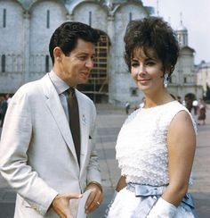 Elizabeth Taylor and Eddie Fisher in Moscow 1961