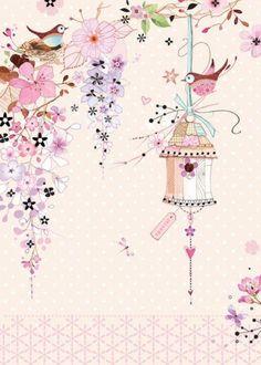 Leading Illustration & Publishing Agency based in London, New York & Marbella. Flower Wallpaper, Wallpaper Backgrounds, Iphone Wallpaper, Decoupage Paper, Cute Illustration, Vintage Paper, Cute Wallpapers, Scrapbook Paper, Artsy