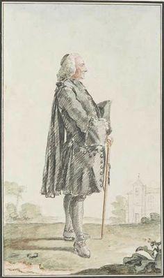 """""""M. le Curé de Treuzy"""" by Louis Caroggis Carmontelle (1758)"""
