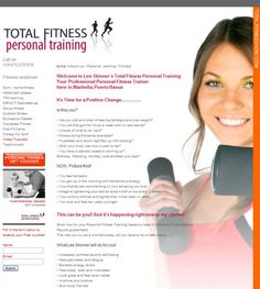Total Fitness now, Personal fitness instructor website design from The pulse.fm