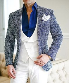 The ultimate sport jacket for the bold. Check out this epic S by Sebastian look. #sebastiancruzcouture