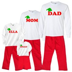 31 Best Unique Christmas Pajamas for Fun Families - sizes for the ... 82a6f996f