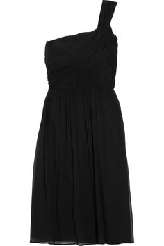J.Crew | Lucienne one-shoulder silk-chiffon dress