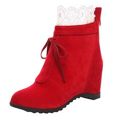 ENMAYERレッド2016年の冬の雪のブーツ女性の口のレースブーツ防水増加厚底シリンダーのブーツに加え、ベルベッ... https://www.amazon.co.jp/dp/B01N2GI8U8/ref=cm_sw_r_pi_dp_x_VbixybAK4XQMV