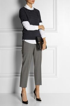 J.Crew   Eaton cropped stretch-wool pants   NET-A-PORTER.COM