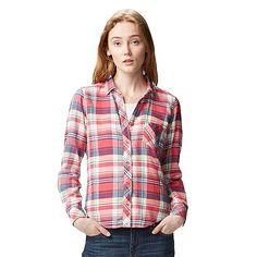 WOMEN Light Flannel Long Sleeve Shirt�-�UNIQLO�UK�Online�fashion�store