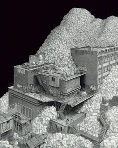 Super Detailed Pen Architectural Drawings. By Ben Tolman.