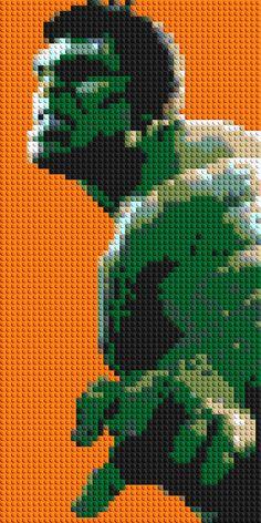 Hulk LEGO® Mosaic - 15 in x 30 in by CreativeSquareStudio on Etsy https://www.etsy.com/listing/232656792/hulk-lego-mosaic-15-in-x-30-in